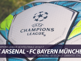 Champions League Tickets: FC Arsenal - FC Bayern München, 7.3.2017
