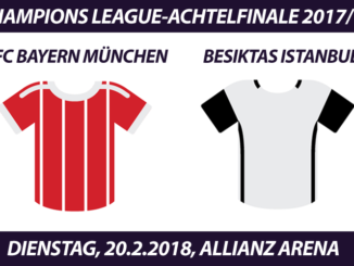 Champions League Tickets: FC Bayern - Besiktas Istanbul, 20.2.2018