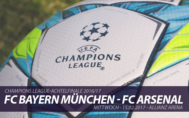 Champions League Tickets: FC Bayern München - FC Arsenal, 15.2.2017