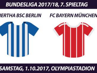 Bundesliga Tickets: Hertha BSC Berlin - FC Bayern, 1.10.2017