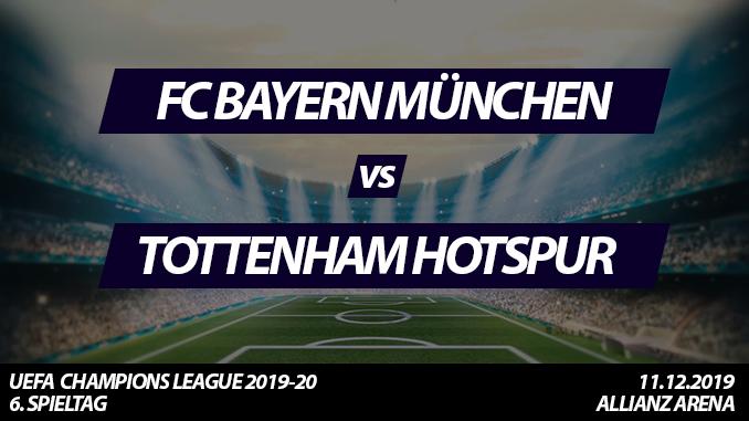 Champions League Tickets: FC Bayern München - Tottenham Hotspur, 11.12.2019
